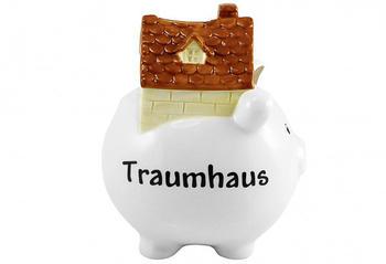 Goldbach Geschenkartikel Spardose Traumhaus Weiß
