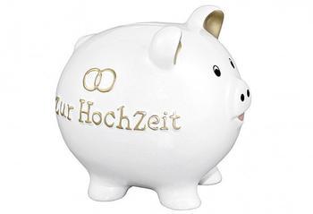 Goldbach Geschenkartikel Spardose Zur Hochzeit Weiß