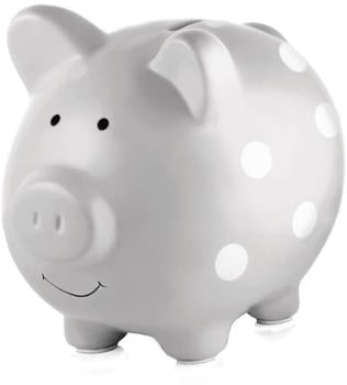 Pearhead Ceramic Piggy Bank Grey