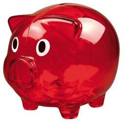 Macma Sparschwein transparent rot