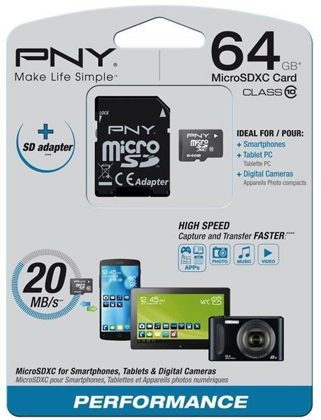 PNY microSD 64 GB (SDU64G10PER-EF)