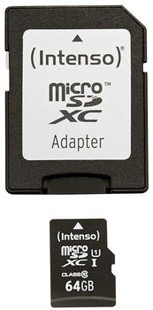 Intenso Micro SDXC 64GB Class 10 Speicherkarte inkl. SD-Adapter (UHS-I)