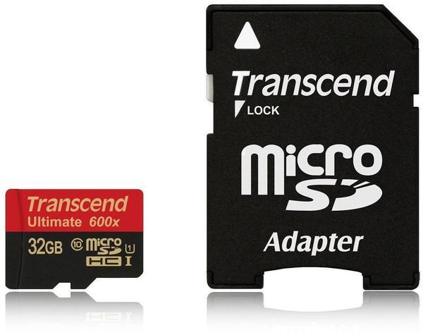 Transcend Ultimate microSDHC 32 GB 600x