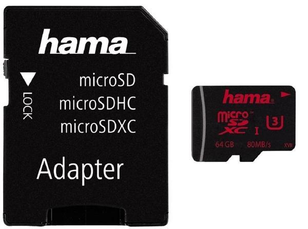 Hama 00123982 UHS Speed Class 3 microSDXC 64GB