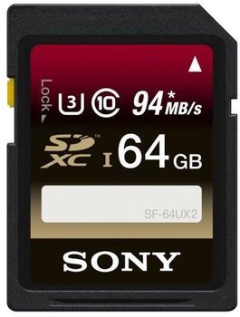 Sony SDXC 64GB Class 10 UHS-I U3 (SF64UX2)