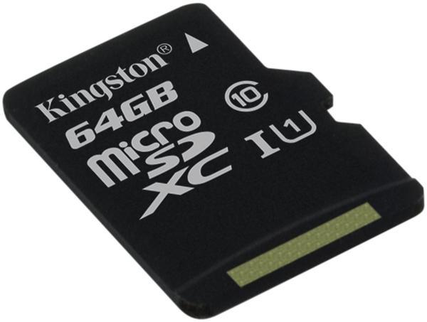 Kingston microSDXC 64GB UHS-I Class 10 (SDC10G2/64GBSP)