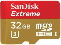 SanDisk microSDHC Extreme Action 32GB Class 10 UHS-I U3 + SD-Adapter