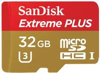 SanDisk microSDHC Extreme Plus 32GB Class 10 95MB/s UHS-I U3 + SD-Adapter