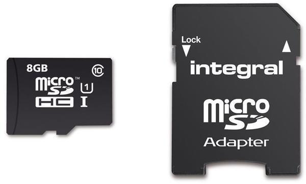 Integral microSDHC UltimaPro 8GB Class 10 40MB/s + Adapter