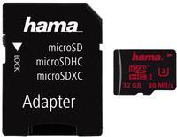 Hama microSDHC 32GB UHS-I U3 + SD-Adapter/Foto