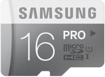 Samsung microSDHC Pro 16GB Class 10 UHS-I (w/o Adapter) (MB-MG16D/EU)