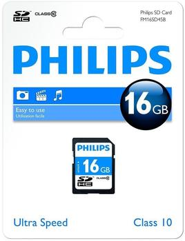 Philips SDHC 16GB Class 10 (FM016SD45B)