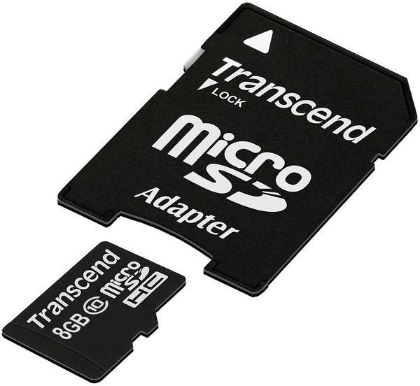 Transcend microSDHC 8GB Class 10 (TS8GUSDHC10)