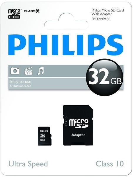 Philips microSDHC Class 10 32GB (FM32MP45B/10)