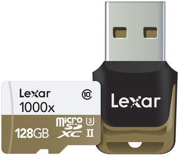 Lexar microSDXC Professional 128GB Class 10 UHS-II U3 1000x + USB-Kartenleser