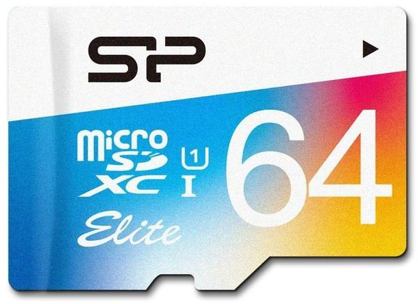 Silicon Power Elite Colorful microSDXC 64GB mit Adapter