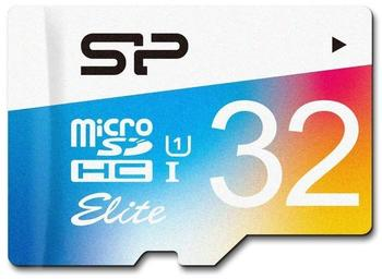 Silicon Power Elite Colorful microSDHC 32GB mit Adapter