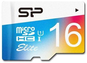 Silicon Power Elite Colorful microSDHC 16GB mit Adapter