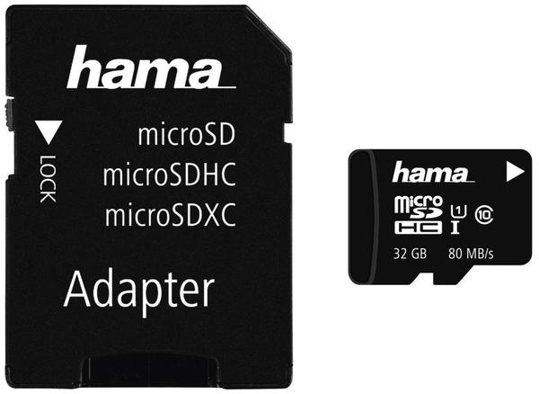 Hama microSDHC 32GB Class 10 UHS-I U1 (00124151)