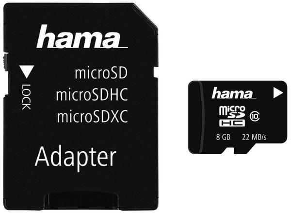 Hama microSDHC 8GB Class 10 (00108087)