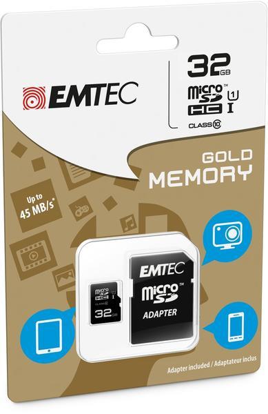 Emtec microSDHC 32GB Class 10 Speedin (ECMSDM32GHC10SP)