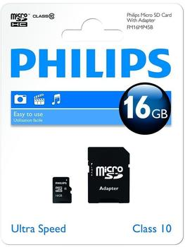 Philips microSDHC Class 10 16GB (FM16MA45B/10)