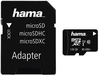 Hama microSDXC 128GB Class 10 80MB/s UHS-I + SD-Adapter/Foto