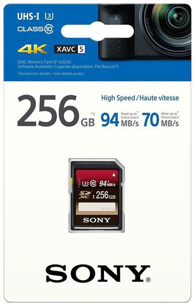 Sony Sony SDXC Class 10 UHS-I U3 256GB (SFG2UX2)