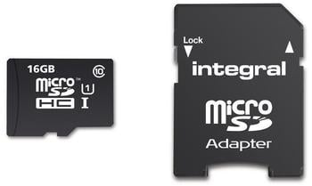 Integral Smartphone and Tablet microSDHC Class 10 UHS-I U1 - 16GB (INMSDH16G10-90SPTAB)
