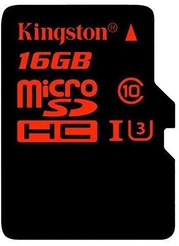 Kingston microSDXC SDCA3 16GB UHS-I U3 + SD-Adapter