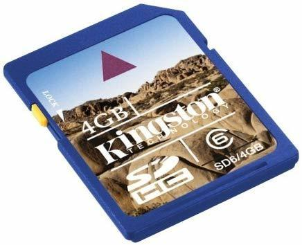 Kingston Class 6 SDHC Secure Digital 4096 MB