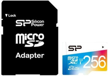 Silicon Power Elite Colorful microSDXC 256GB mit Adapter