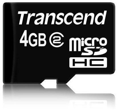 Transcend microSDHC 4GB Class 2 (TS4GUSDC2)
