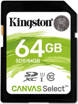 Kingston Canvas Select SDXC 64GB (SDS/64GB)