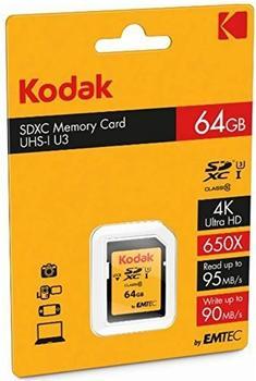 Emtec SD Card 64GB KODAK SDXC (CLASS10) UHS-I U3 Ka.Blist