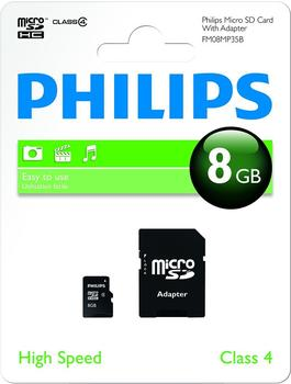Philips FM08MP35B/10 8GB Micro SDHC-Speicherkarte