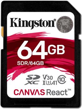 Kingston Canvas React SDXC 64GB (SDR/64GB)