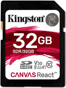 Kingston Canvas React SDHC 32GB (SDR/32GB)