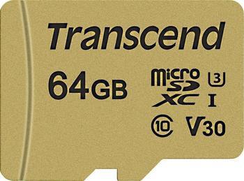 Transcend 500S microSDXC - 64GB