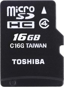Toshiba HIGH SPEED M102 - Flash-Speicherkarte - 16 GB - Class 4, - microSDHC