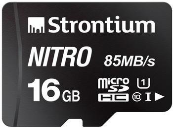 Strontium SRN16GTFU1QA - MicroSDHC-Speicherkarte 16 GB Class 10 mit - High Capacity SD (MicroSDHC) (66497)