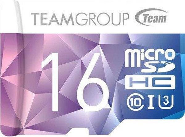 TEAM GROUP Team Color Card II - Flash-Speicherkarte (SD-Adapter inbegriffen) - 16 GB - UHS-I U3Class10 - microSDHC UHS-I - Blau, Violett