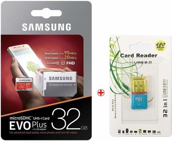 Samsung EVO Plus (2017) microSDHC 32GB (MB-MC32GA)