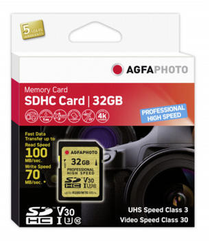 AgfaPhoto Professional High Speed GOLD SDHC 32GB