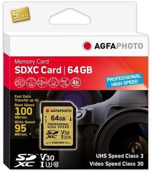 AgfaPhoto Professional High Speed GOLD SDXC 64GB