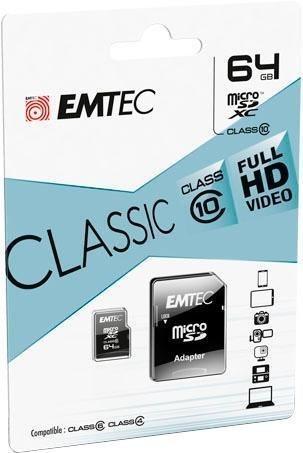 Emtec microSDXC Class 10 Classic - 64GB (ECMSDM64GXC10CG)
