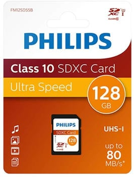 Philips Micro SDXC Karte 128GB Speicherkarte UHS-I U1 Class 10