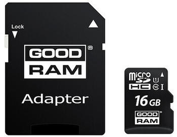 GoodRam microSDHC 16GB Class 10 UHS-I + SD-Adapter