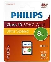 Philips SDHC-Karte 8GB Class 10