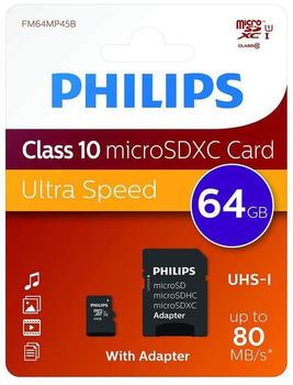 Philips microSDXC-Karte 128GB Class 10 inkl. SD-Adapter